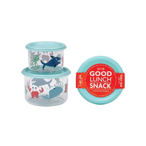 Sugarbooger Sugarbooger Snackbox set 2 st. Ocean