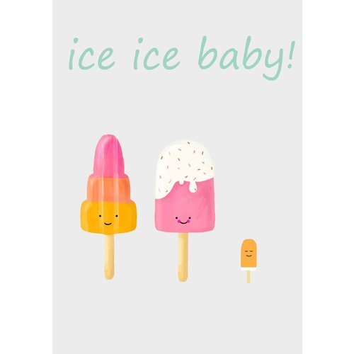 Gnoom Dubbele kaart Ice ice baby!/ Congratulations! That's so cool!