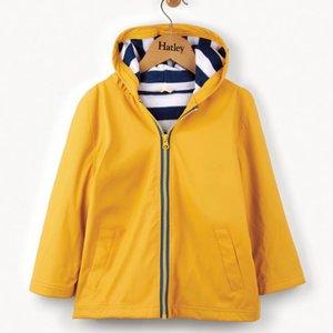 Hatley Hatley Yellow & Navy Regenjas