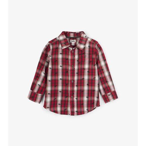 Hatley Hatley Tiny Moose overhemd