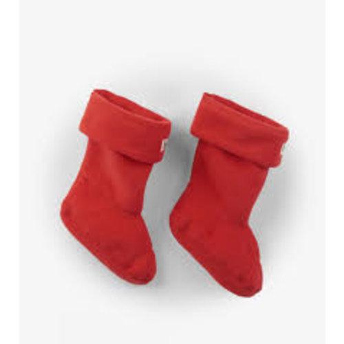 Hatley Hatley Fleece Bootliners/ Binnensok voor regenlaarsjes Rood (maat 21 t/m 24)