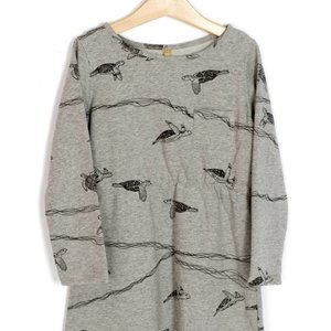 Lotiekids Dress Grey melange Turtles