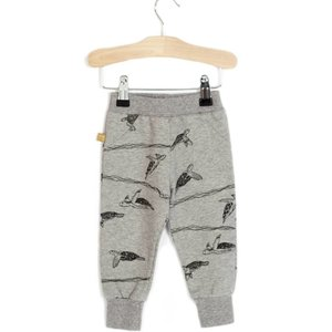 Lotiekids Semi baggy pants Grey melange Turtles