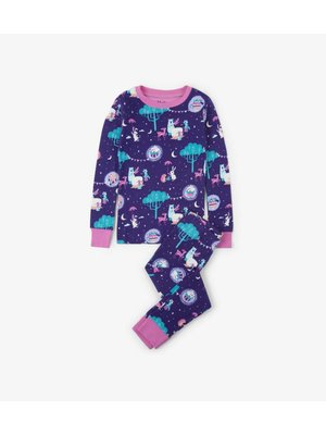 Hatley Hatley Pretty Enchanted Tea Party Pyjama biologisch katoen tweedelig