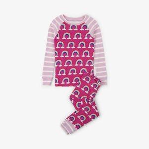 Hatley Hatley Pretty Rainbows Pyjama biologisch katoen tweedelig