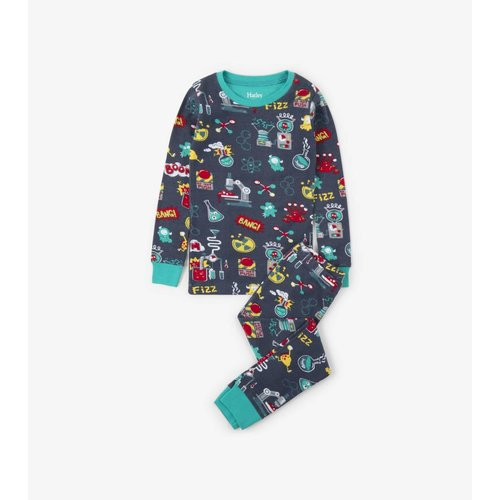 Hatley Hatley Chemistry Pyjama biologisch katoen tweedelig