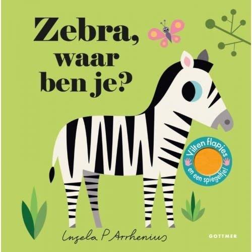 Zebra waar ben je? Boekje met vilten flapjes en spiegeltje van Ingela