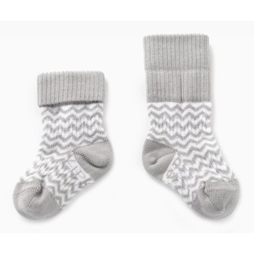 Kipkep Blijf sokjes met ingebreide blijf- zitten- zones 2 paar Grey- Ziggy