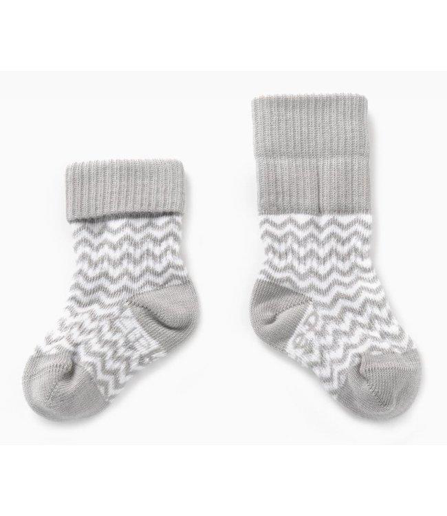 Kipkep Blijf sokjes met ingebreide blijf- zitten- zones 2 paar Ziggy Grey