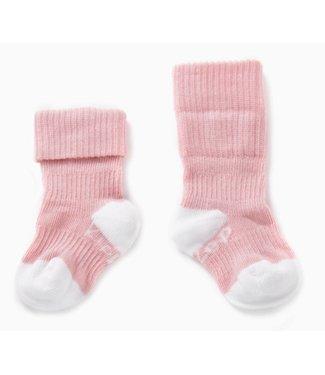 Kipkep Blijf sokjes met ingebreide blijf- zitten- zones 2 paar Ziggy Pink