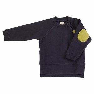 Pigeon Sweatshirt met elleboog patches Deep Indigo