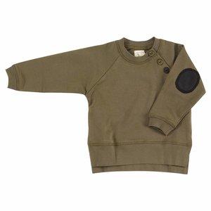 Pigeon Sweatshirt met elleboog patches Olive