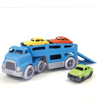 Green Toys Car Carrier - Oplegger met drie auto's van gerecycled plastic