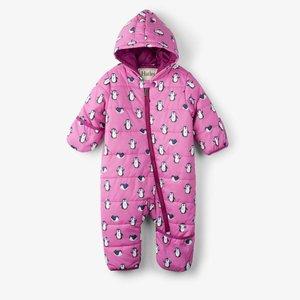 Hatley Hatley baby winterpak met waterproof Teflon coating Pinguin Roze
