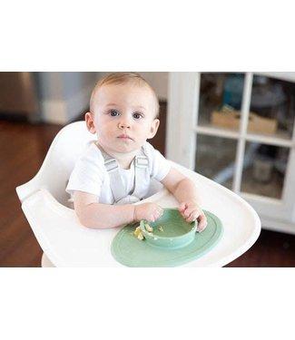 EZPZ EZPZ tiny bowl Placemat & bowl in one Pewter/ Lichtgrijs