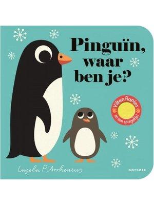 Pinguin, waar ben je? Boekje met vilten flapjes en spiegeltje van Ingela