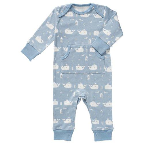 Fresk Fresk pyjama zonder voetjes Whale blue fog