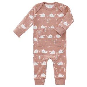 Fresk Fresk pyjama zonder voetjes Whale Mellow Rose