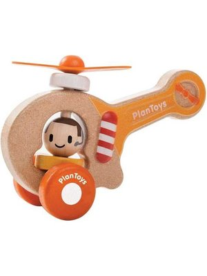 Plan Toys Helicopter van duurzaam hout