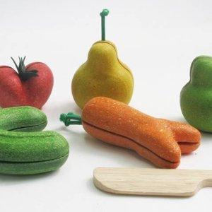 Snijfruit en Groente ´Kromkommer´ (5-delig) Plan Toys