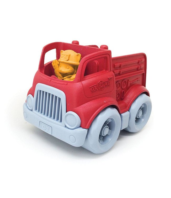 Green Toys Mini Fire Truck - Braandweerauto van gerecycled plastic