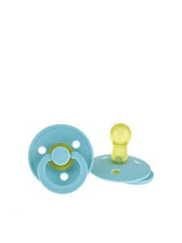 Bibs Bibs speen natuurlijk rubber Baby blauw maat 2 (6-18 maanden)