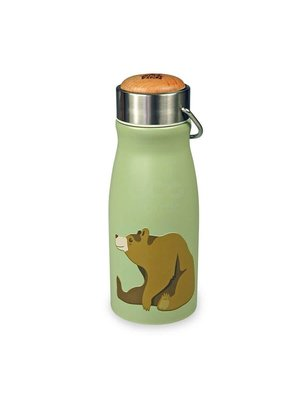 Thermo flask Bear, dubbelwandig roestvrij staal