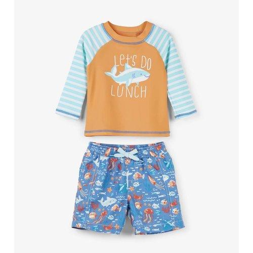 Hatley Baby Rashguard set Ocean Animals