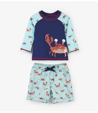 Hatley Baby Rashguard set Silly Crustaceans