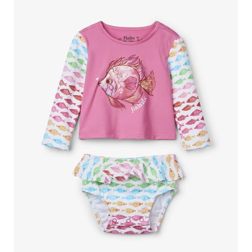 Hatley Baby Rashguard set Watercolour Fishies