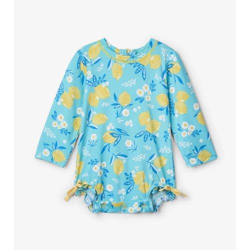 Hatley Baby Rashguard Swimsuit Cute Lemons