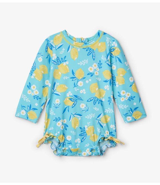 Hatley Badpak met mouwen Cute Lemons UV Factor 50+