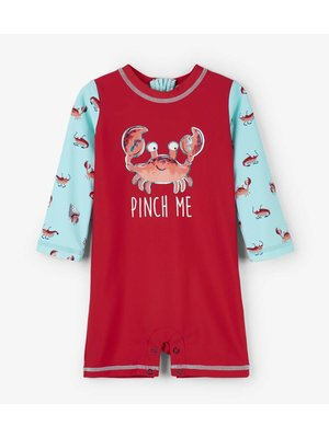 Hatley Baby Rashguard one-piece Silly Crustaceans