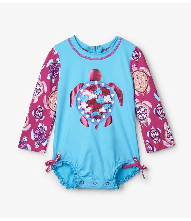 Hatley Badpak met mouwen Pretty Sea Turtles UV Factor 50+