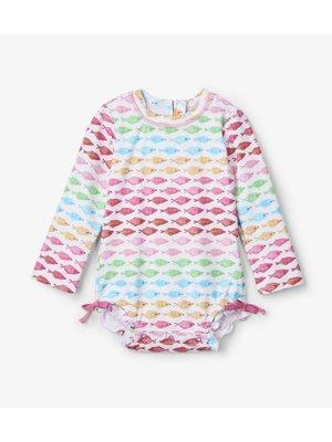 Hatley Baby Rashguard Swimsuit Watercolour Fishies