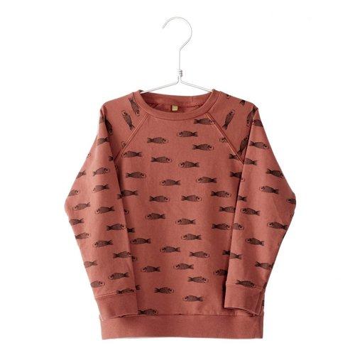 Lotiekids Sweatshirt Fishes washed red