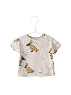 Lotiekids T-shirt short sleeve Pelican grey melange
