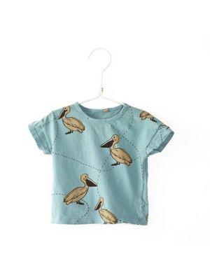 Lotiekids T-shirt short sleeve Pelican turqoise