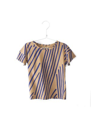 Lotiekids T-shirt short sleeve Stripes camel