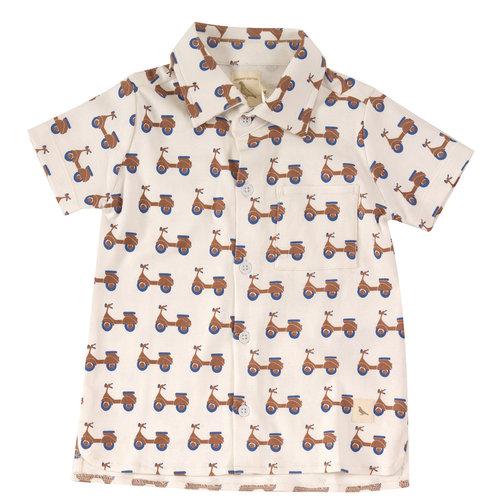 Pigeon Jersey shirt met print Scooters