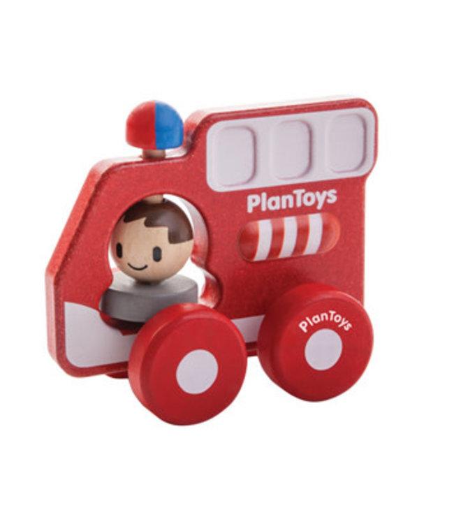 Plan Toys Brandweerauto van duurzaam hout