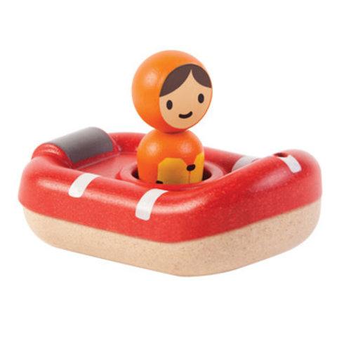 Plan Toys Coastguardboat - Redingsboot van duurzaam hout