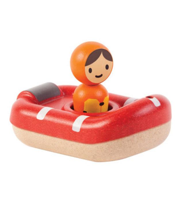 Plan Toys Coastguardboat - Reddingsboot van duurzaam hout