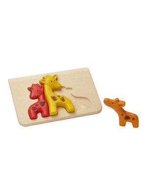 Plan Toys Houten relief puzzel Giraf Plan Toys