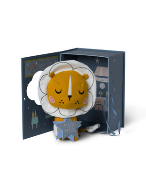Lion in gift box - Picca Loulou 18 cm