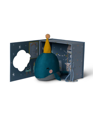 Whale in gift box - Picca Loulou 21 cm
