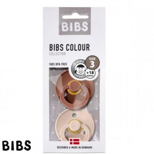 Bibs Bibs speen natuurlijk rubber set van twee maat 3 (+18 maanden) Blush/ Woodchuck Rose