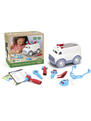 Green Toys Ambulance and doctor's kit set Green Toys