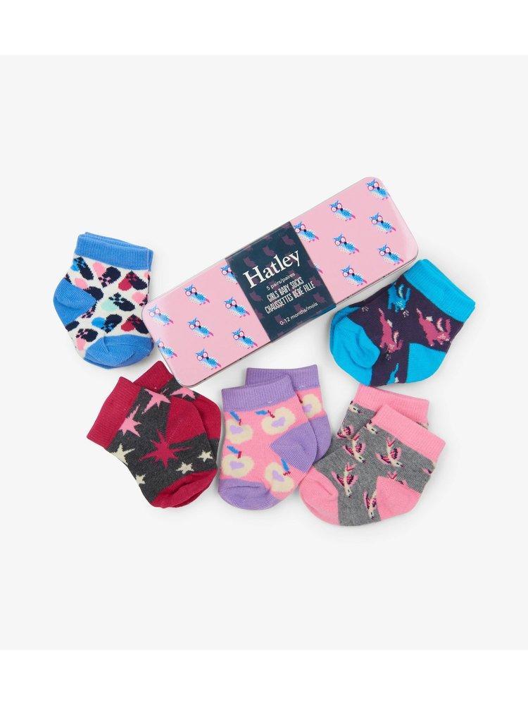 Hatley Baby Girls Crew Sokken in gift box