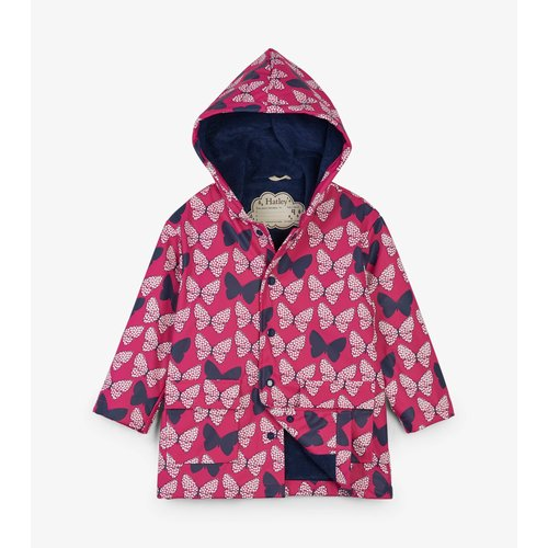 Hatley Spotted Butterflies Colour Changing Raincoat